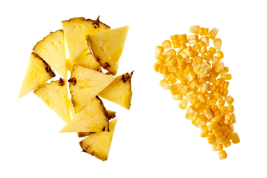 pineapple and corn