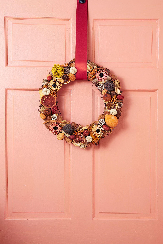 potpourri thanksgiving wreath