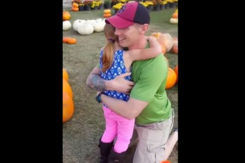 Daughter's Reaction to Returning Military Father May Make You Bawl