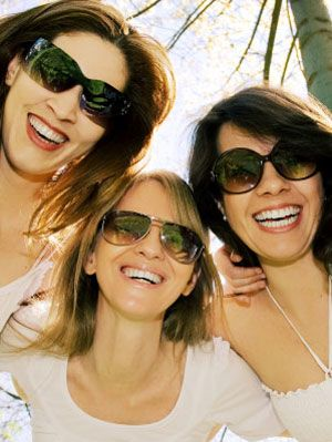 women with sunglasses