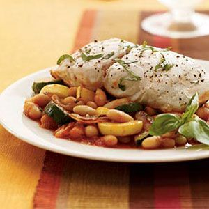 Tuscan-Bass-with-Squash-and-Beans