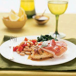 Speedy-Chicken-Saltimbocca-with-Beans-Spinach