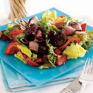 Mediterranean-Steak-Salad