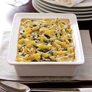 Three-Cheese-Macaroni-with-Spinach-Recipe