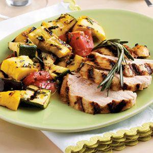 Grilled-Turkey-Tenders-and-Vegetables