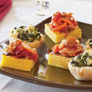 Polenta-Squares-with-Bolognese-Topping-Recipe