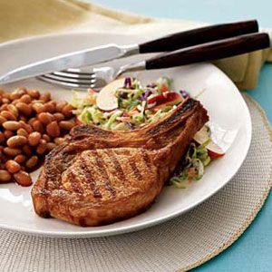 BBQ-Pork-Chops-with-Nectarine-Slaw