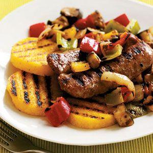 Boardwalk-Style-Grilled-Sausages-with-Polenta