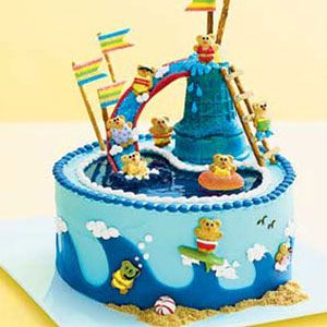 Miraculous Birthday Cake Recipes Water Park Cake For Kids Birthday At Birthday Cards Printable Riciscafe Filternl