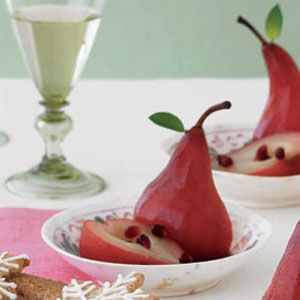 Pomegranate-Poached-Pears