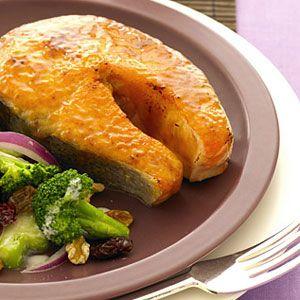 Mustard-Glazed-Salmon-Steaks