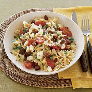 Bow-Tie-Pasta-with-Chorizo-Tomatoes