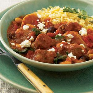 Greek Lamb Spinach Stew Slow Cooker Recipes