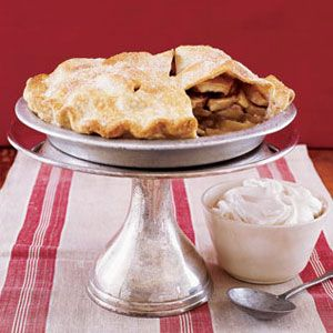 apple pie with maple whipped cream
