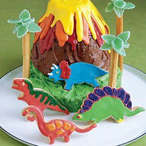 Wondrous Volcano Cake Personalised Birthday Cards Veneteletsinfo