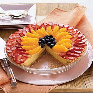 No-Bake-Berry-Orange-Cheesecake-Pie-Recipe