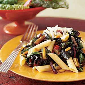 Penne-with-Chard-Pine-Nuts-Recipe