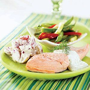 Cold-Poached-Salmon-with-Dill-Sauce-and-Potato-Salad