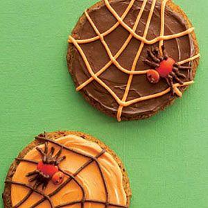 halloween cookies - spiderweb cookies