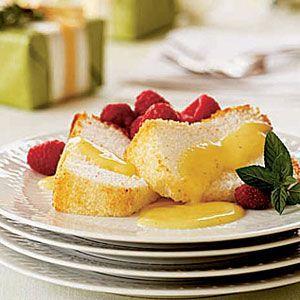 Angel-Food-Cake-with-Eggnog-Custard-Sauce