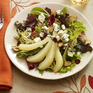 Green-Salad-with-Cranberry-Vinaigrette-Recipe