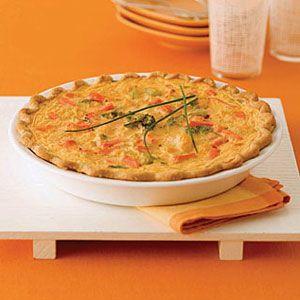 Cheddar-Vegetable-Quiche