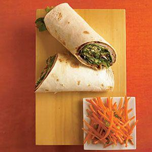 asian turkey wraps