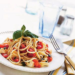 linguine with no cook tomato sauce