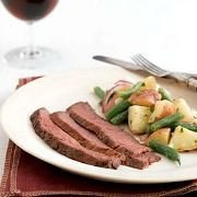 BBQ-Skirt-Steak-with-Warm-Potato-Salad-Recipe