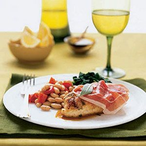 Chicken-Saltimbocca-with-Beans-Spinach
