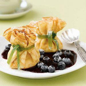Lemon-Ricotta-Bundles-with-Blueberry-Sauce