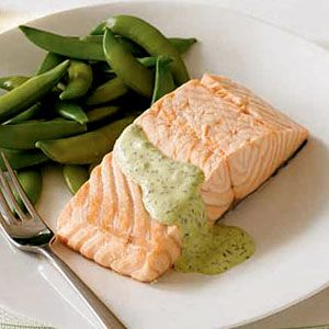 Poached-Salmon-with-Dill-Horseradish-Sauce