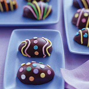 chocolate covered candy eggs