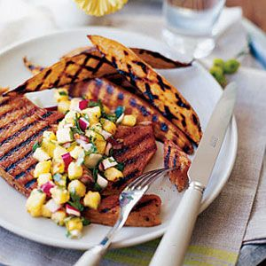 Ham-with-Hawaiian-Salsa-and-Sweet-Potatoes