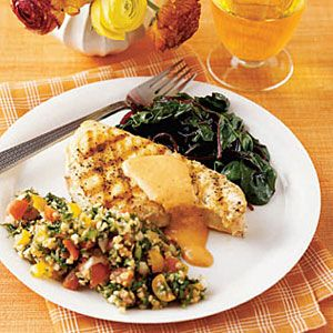 Grilled-Swordfish-with-Red-Pepper-Mustard-Sauce