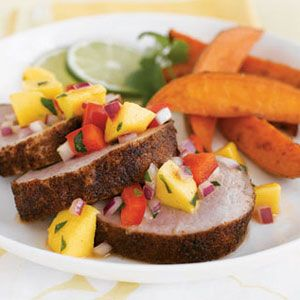 Chipotle-Pork-with-Mango-Relish-Cumin-Sweet-Potatoes