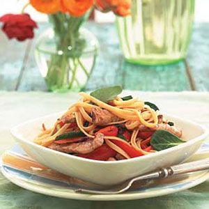 Linguine-with-Pork-Vegetables