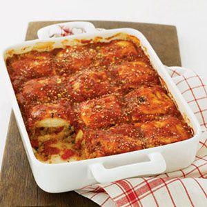 Ravioli and Sausage Lasagna