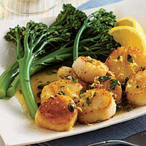 Scallops-with-Lemon-Capers