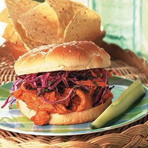 Pulled-Chicken-Sandwiches-with-Red-Cabbage-Slaw-Recipe