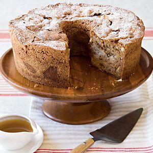 apple walnut cake with cider sauce