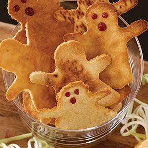 halloween dinner ideas - ghost toasts