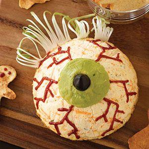 halloween desserts - eyeball cheesecake