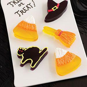 halloween treats - ghoulish gelatin cutouts