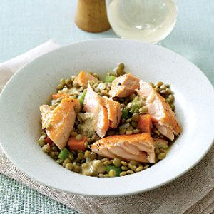 Salmon-with-Lentils