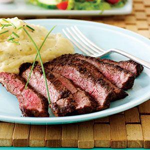Blackened-Skirt-Steak-with-Cheddar-Sage-Mashed-Potatoes