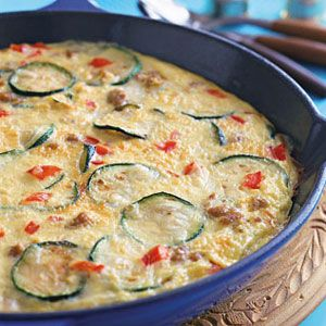 Spicy-Sausage-Vegetable-Frittata-Recipe