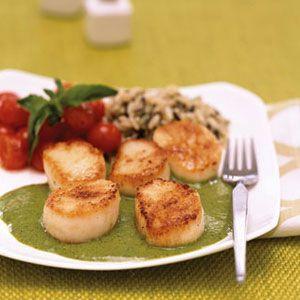 Scallops-with-Creamy-Pesto-Recipe