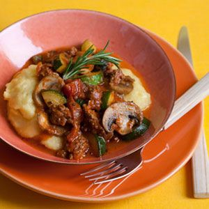 Beef-Vegetables-On-Polenta-Recipe