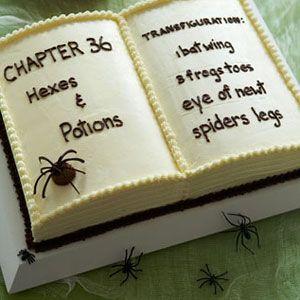 halloween desserts - Book of Spells Cake